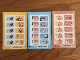 Feuillets Adhésifs FETE DU TIMBRE 2008 TEX AVERY Droopy, La Girl, Le Loup Y&T F160A 161A 162A - Neufs ** - France
