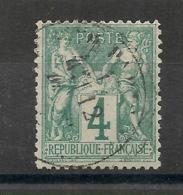SAGE 4C VERT. TB CENTRAGE. BONNE DENTELURE. PAS D'AMINCI. Cote > 70 EUR - 1876-1898 Sage (Type II)