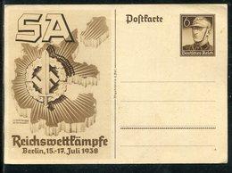 """Deutsches Reich / 1938 / Sonderpostkarte """"Reichswettkaempfe Der SA In Berlin"""" Mi. P 271 ** (23288) - Allemagne"""
