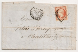 LAC ST LOUP S ANGRONNE Haute Saone Pour CHATILLON S SEINE. 1855. - Postmark Collection (Covers)