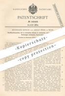 Original Patent - Bernhard Kirsch , Adolf Pessl , Wien  Österreich 1902 , Rundflechtmaschine   Flechtmaschine   Flechten - Historische Dokumente