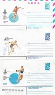 Russia/USSR 1980, 3 Air Mails, 6 Covers Moscow Olympics, Athletics,VF Unused !! (RN50) - 1923-1991 USSR