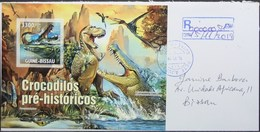 Guine-Bissau - Registered Cover Dinosaur Crocodile - Francobolli