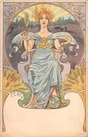 Illustrateur E.LOUIS LESSIEUX  - Art Nouveau - CÉRÈS - Déesse De L'Agriculture.Mythologue Grecque. - Lessieux