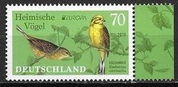 Allemagne 2019, Timbre Neuf Europa Oiseaux - [7] République Fédérale
