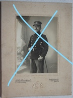 Photo ABL Portrait Militaire Belge Pupille ? Pre 1914 Sabre Sword Gent Militaria Leger Armée Uniforme - Oorlog, Militair