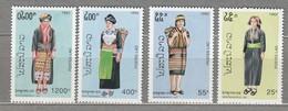 LAOS 1992 National Costumes MNH (**) Mi 1325-1328 #24773 - Laos