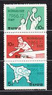 Corea Del Norte - Correo 1966 Yvert 711/3 ** Mnh  Deportes - Corea Del Norte