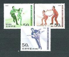 Corea Del Norte - Correo 1997 Yvert 2688/90 ** Mnh Deportes Patinaje - Corea Del Norte