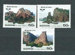Corea Del Norte - Correo 1997 Yvert 2723/5 ** Mnh  Monte Chilbo - Corea Del Norte
