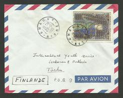 N° 1424 - Email Champlevé Limousin / CHAUNY 29.06.1965 / Lettre Avion >>> FINLANDE - 1961-....