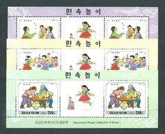 Corea Del Norte - Hojas 1997 Yvert 289/91 ** Mnh  Juegos Infantiles - Corea Del Norte