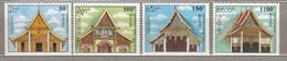 LAOS 1994 Architecture MNH (**) Mi 1406-1409 #24780 - Laos