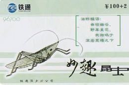 TARJETA DE CHINA USADA. GRASSHOPPER, 96700. (0732) - Insectos