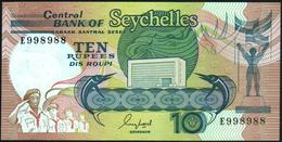SEYCHELLES - 10 Rupees Nd.(1989) {sign. Guy Morel} UNC P.32 - Seychelles
