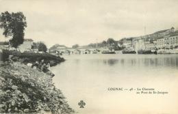 COGNAC CHARENTE AU PONT DE ST JACQUES (scan Recto-verso) KEVREN0383 - Cognac