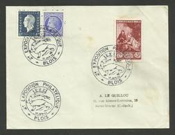 "LOIR ET CHER / "" Exposition Philatélique BLOIS 1946 "" - Briefmarkenausstellungen"