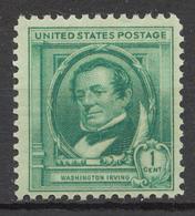 United States 1940 Mi# 455** WASHINGTON IRVING, WRITER - Unused Stamps