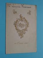 HUWELIJK 18 Oct 1927 ( Van GAEVER & GERLO > Van GAEVER & Van HOECK  ) Waumans ( Voir / Zie Foto's Voor Detail ) ! - Menus