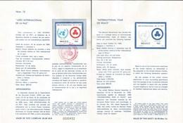 V) 1986 MEXICO, INTERNATIONAL YEAR OF PACE, FDB - Mexico