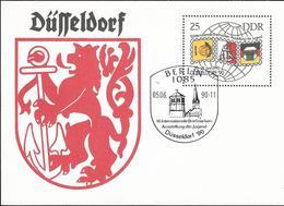 1990 DDR Ganzsache Zur  Düsseldorf '90 - FDC: Briefe