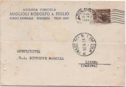 Borgo Panigale, Bologna: Azienda Vinicola Miglioli Rodolfo & Figlio. Viaggiata 1955 - Bologna