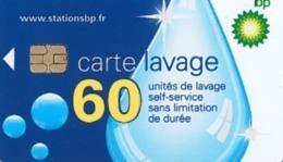 # Carte A Puce Portemonnaie  Lavage BP - Goutte - 60u Puce1? Aspect Brillant  - Tres Bon Etat - - Frankrijk