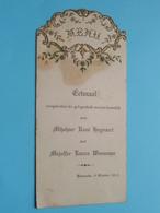 HUWELIJK 9 October 1928 Baesrode ( René HEYVAERT & Laura WAUMANS  ) > ( Voir / Zie Foto's Voor Detail ) ! - Menus