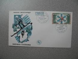 FDC Nouvelle-Calédonie 1967  N° PA 96  Jeux Olympiques D'Hiver Grenoble 1968 - Briefe U. Dokumente