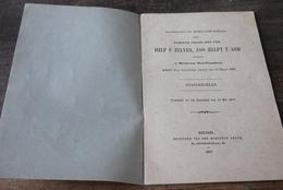 Aalst Herdersem 1897 Maatschappij Help U Zelven , Zoo Helpt U God Standregelen Brochure - Documents Historiques