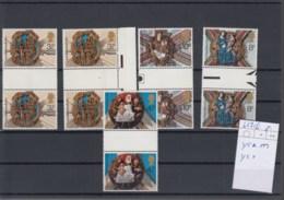 GB Michel Cat.No. Mnh/** Gutter Pairs 663/666 Ycm/ycv - 1952-.... (Elizabeth II)