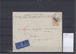 GB Michel Cat.No. Cover 205 Siggle To Switzerland Censored - 1902-1951 (Kings)