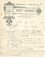 Lettre 1914 / 72 BONNETABLE / PETIT- ROUAULT / Menuiserie, ébénisterie - 1900 – 1949
