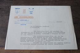 Lebbeke Aalst Herdersem  1947  Brief Hoofding Gezelschap De Goudbloem Lebbeke  Toneel - Documents Historiques