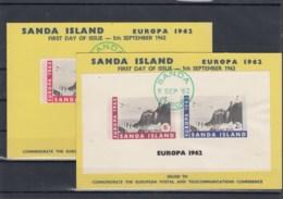 GB Michel Cat.No. Sanda Europ 1962 Sheets Covers - Regional Issues