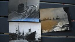 3 PhotoS D' Un Paquebot Transatlantique . Le France ? .photo Le Boyer Reportage Publique Trinité . 3 Scans - Barche