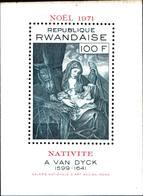 6519B)  REPUBLIQUE RWANDAISE 1971 PAINTINGS-natività Di A Van Dyck-BF -MNH** - Rwanda