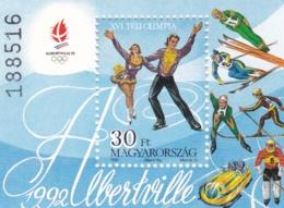 1991,, Ungarn, 4180 Block 219 A, MNH **, Olympische Winterspiele 1992, Albertville. - Blocks & Sheetlets