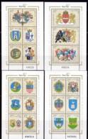 1996,, Ungarn, 4424/43 Block 238/41, MNH **, Wappen.. - Blocs-feuillets