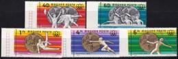 1976, Ungarn, 3164/68 A, MNH ** ,Ungarische Medaillengewinner Bei Den Olympischen Sommerspielen In Montreal. - Ungebraucht