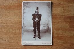Cabinet CUIRASSIER  Avec Son Casque à Crinière  Par  Locquier  Rambervillers - Photographs