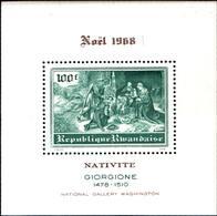 6522B)  REPUBLIQUE RWANDAISE 1968-PAINTINGS-natività DEL GIORGIONE-BF -MNH** - Rwanda
