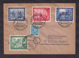 Deustche Post - 1947/1948 - Brief - Leipziger Messe - Soviet Zone