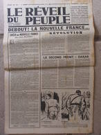 Journal Le Réveil Du Peuple N°46 (15 Oct 1942) Debout La Nouvelle France - Solution De La Question Juive - Journaux - Quotidiens