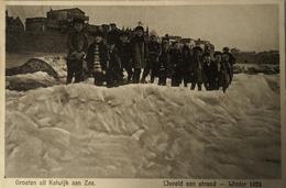 Katwijk Aan Zee // Jeugd Bij IJsveld Aan Strand - Winter 1929 19?? Zeldzaam - Katwijk (aan Zee)
