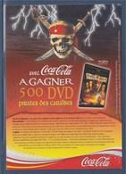 = Avec Coca Cola à Gagner DVD Pirates Des Caraïbes - Advertising