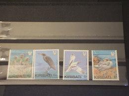 KIRIBATI - 1989 UCCELLI  4  VALORI - NUOVI(++) - Kiribati (1979-...)