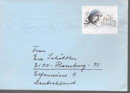 SUEDE Lettre  1987 Mere Teresa - Mère Teresa