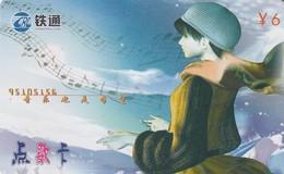 TARJETA TELEFONICA DE CHINA. CARTOON GIRL. CRCXJ-03-1(4-2). (723) - China