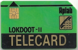 India - Aplab - LOKDOOT (Green), Chip Gem2 (big) Black/Gray, Cn. 00102498, Used - India